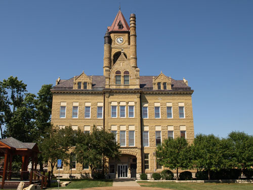 South view of courthouse